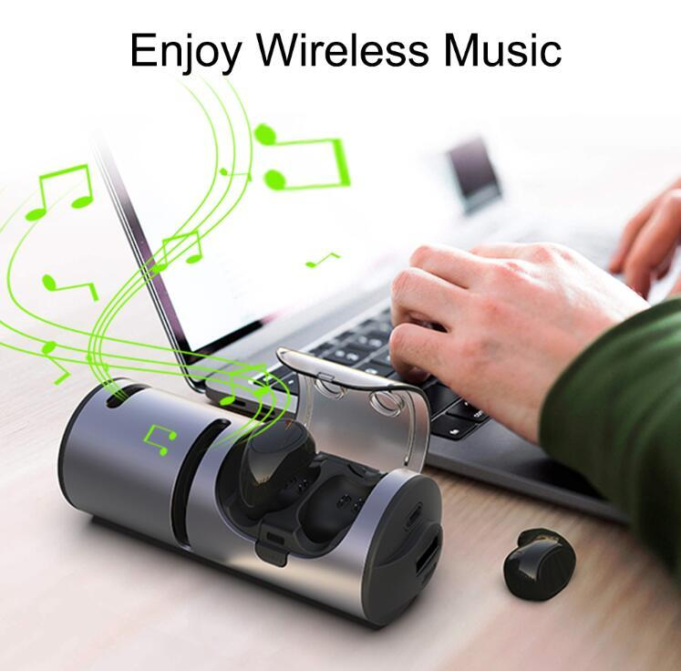 3 in 1 Wireless Earphones Portable Bluetooth Speaker with Charging Box & Power Bank