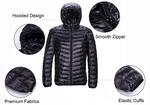 Ultra Lightweight Hooded Down Jacket - Packable & Waterproof