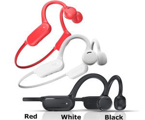 Open-Ear Wireless Bone Conduction Headphones w/Mic HiFi Stereo Sweatproof
