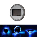 Solar Energy LED Car Cup Holder Mat Pad Waterproof Light Bottle Drinks Coaster (blue light)
