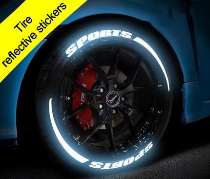 New Arrival-Tire reflective stickers in 2019