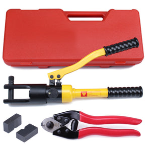 Muzata heavy duty hydraulic crimper tool for stainless steel  60-tons force with cable cutter  CT01