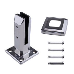 Muzata Stainless Steel Floor Glass Clamp PG02
