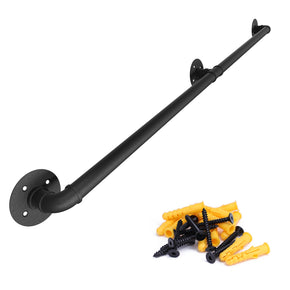 Black Galvanized Steel Pipe Handrail for Indoor Use HW20 BPG