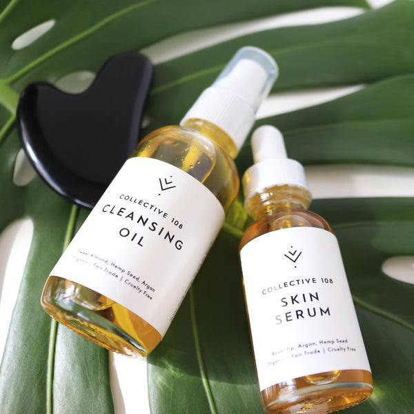 Cleanser + Serum + Gua Sha Set