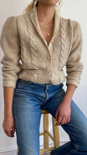 Perfect Minimal Wool Cardigan - Size Small