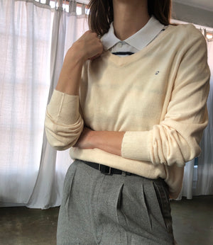 Vintage Cream Dior Pullover - Size Small To Large