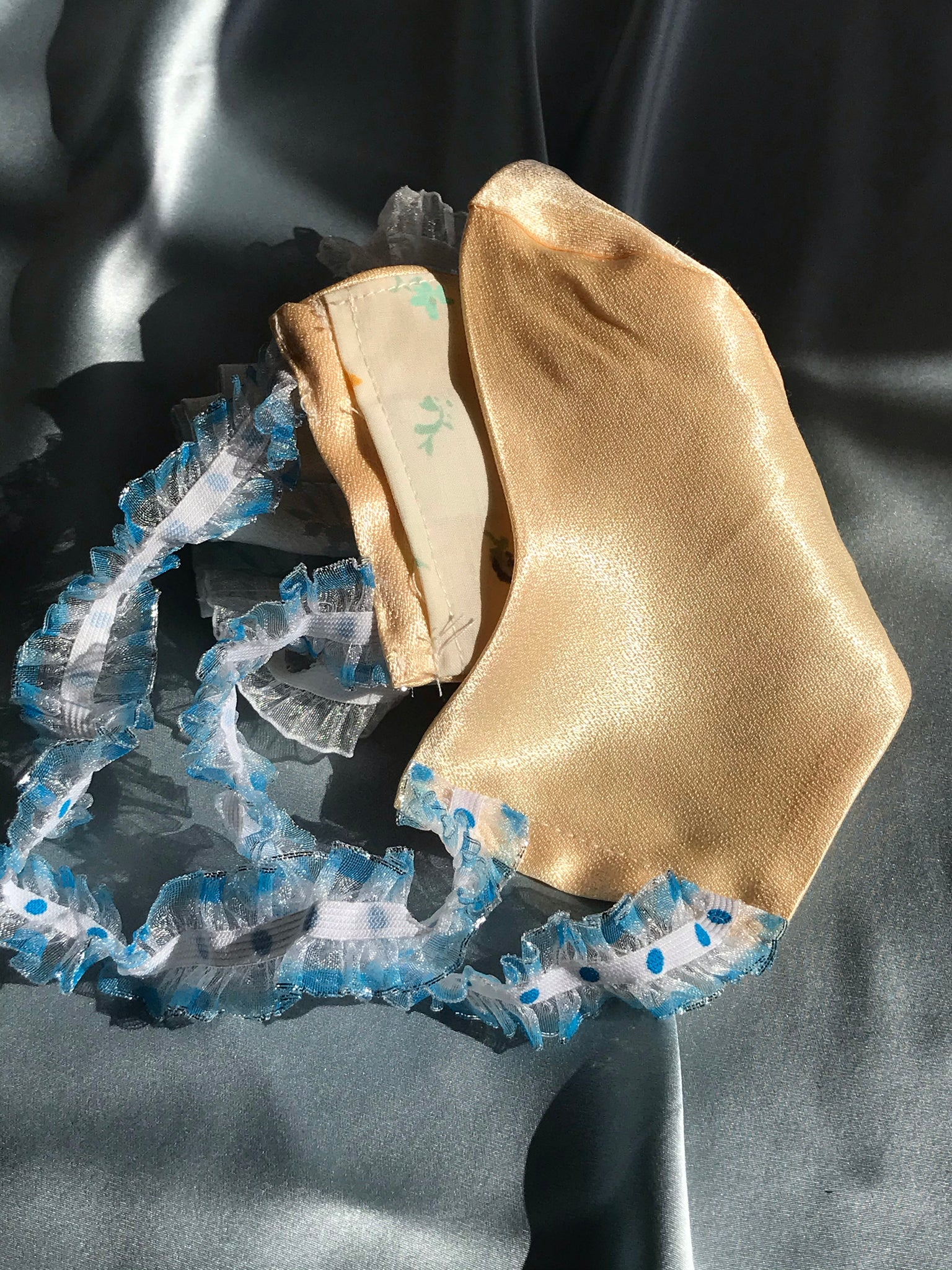 Exclusive (and safe!) Silk or Brocade Covid Mask *NOW SHIPS OUT WITHIN 7-18 DAYS *