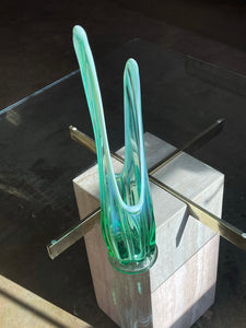 Lime Blown Glass Vase