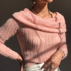 Blush Vintage Mohair Knit Size - Small