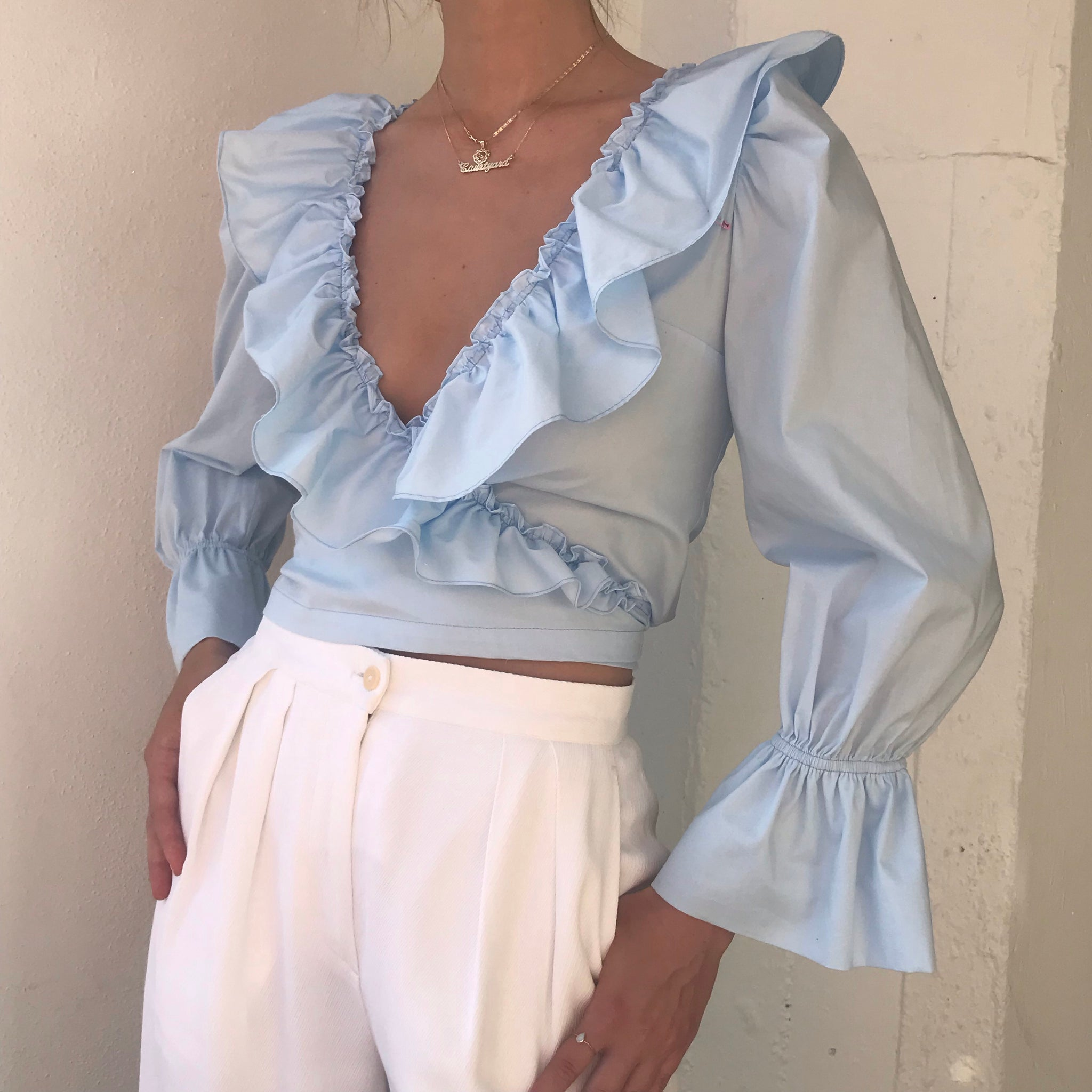 Poet Blouse In Cloud