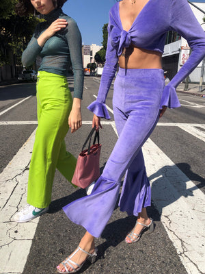 Selena Fluted Pant in Iris *SAMPLE SALE* $52