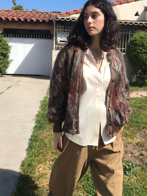 1970s Mohair Cardigan  - Size Small to Large