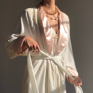 Incredible Vintage 1980s Velvet Robe by Neiman Marcus Sz Small- Large