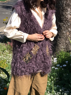 Vintage Mohair Vest - Size Small to Large