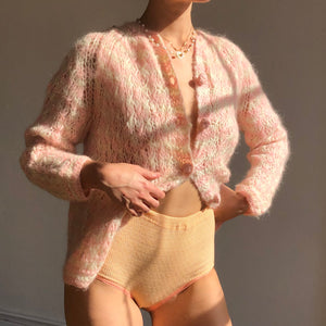 Blush 1960s Vintage Mohair Knit - Size Small/Medium