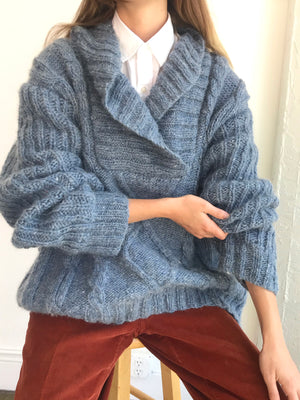 Chunky Oversized Vintage Mohair Knit- Size Medium - X Large