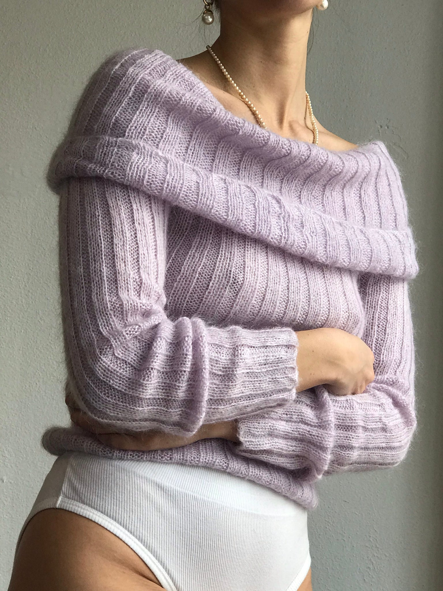 Lavender Ribbed Mohair - Size Xsmall To Small