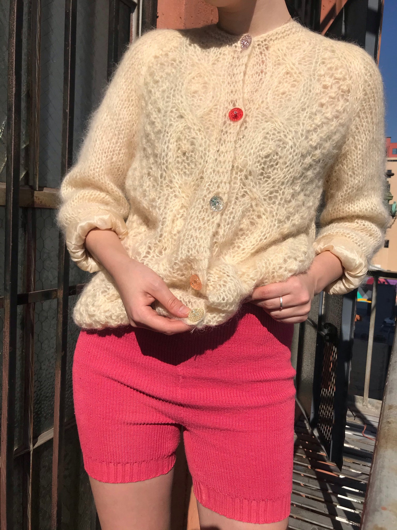 Ultra Fuzzy 1960s Mohair Cardigan - Size Small