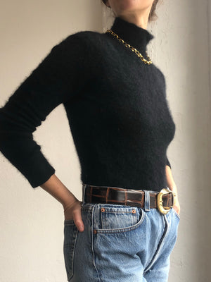 Essential Fitted Angora Knit - Size Xs To Sm