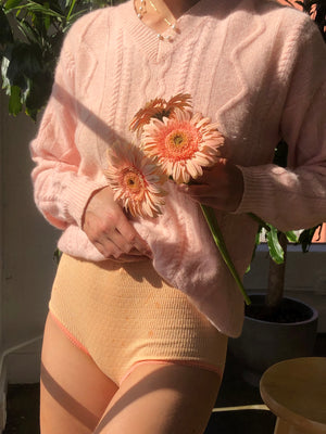 Blush Angora Blend Knit - Size Small To Large