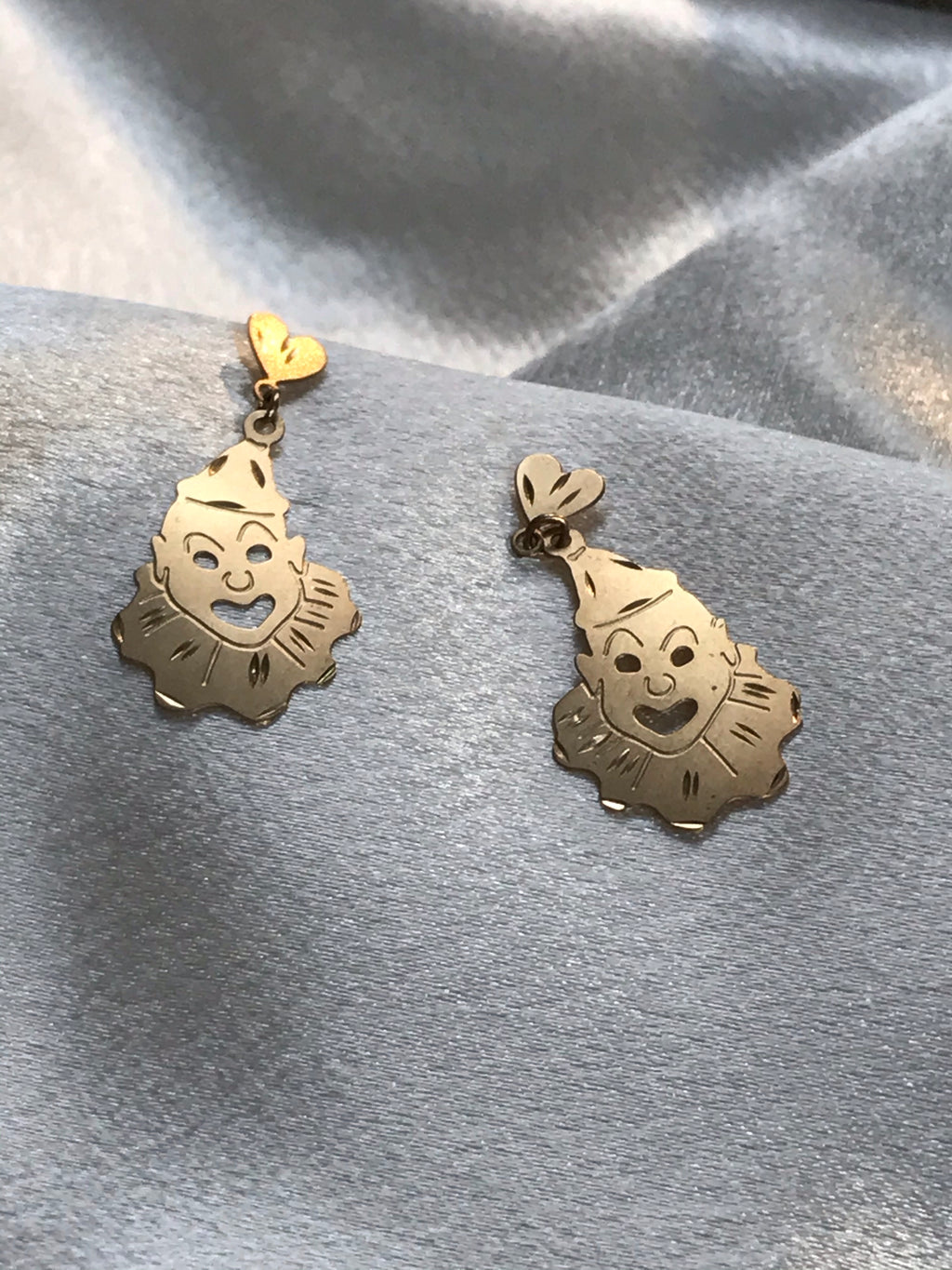 Tears Of A Clown 14k  Earrrings - Size Medium 🤡 🤡