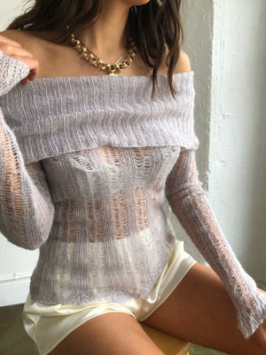 Sterling Sheer Vintage Mohair Knit - Size Small