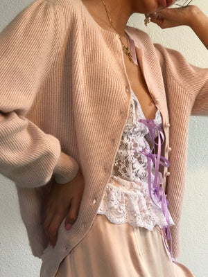 Blush Silk Angora Knit   Size Sm-Md