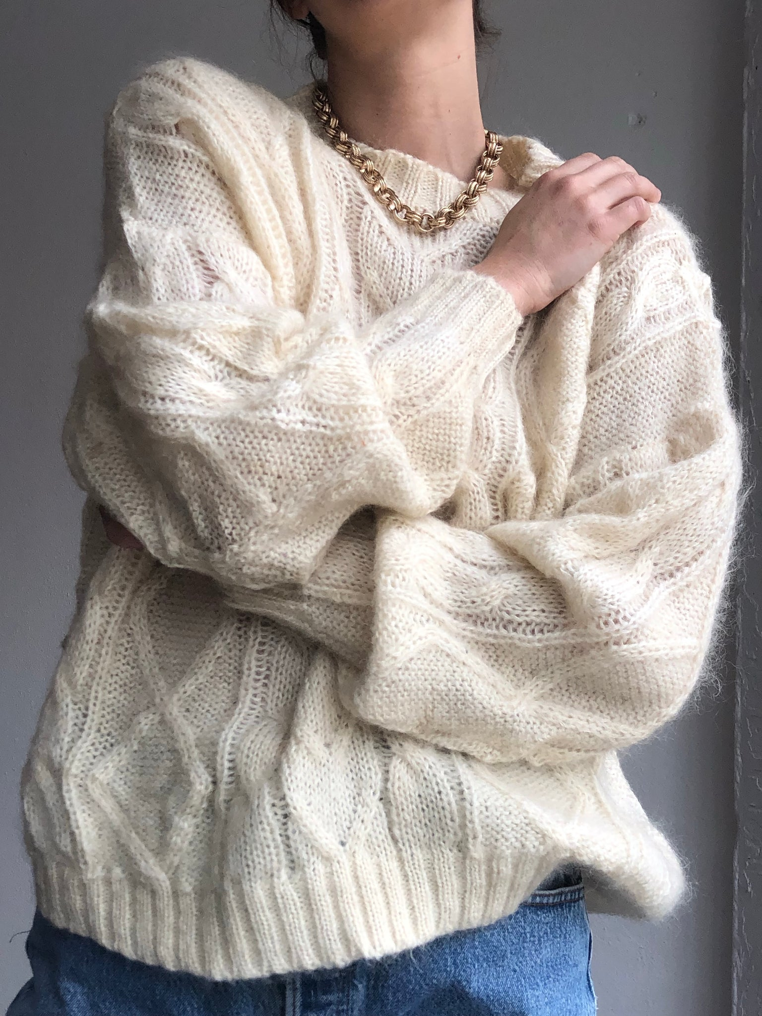 The Perfect Oversized Statement Mohair Knit - Size Small To Large