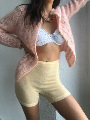 Blush Hand Knit Italian Mohair Cardigan - Size Sm