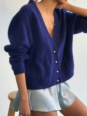 Softest Iris Angora Knit Size Sm-Md