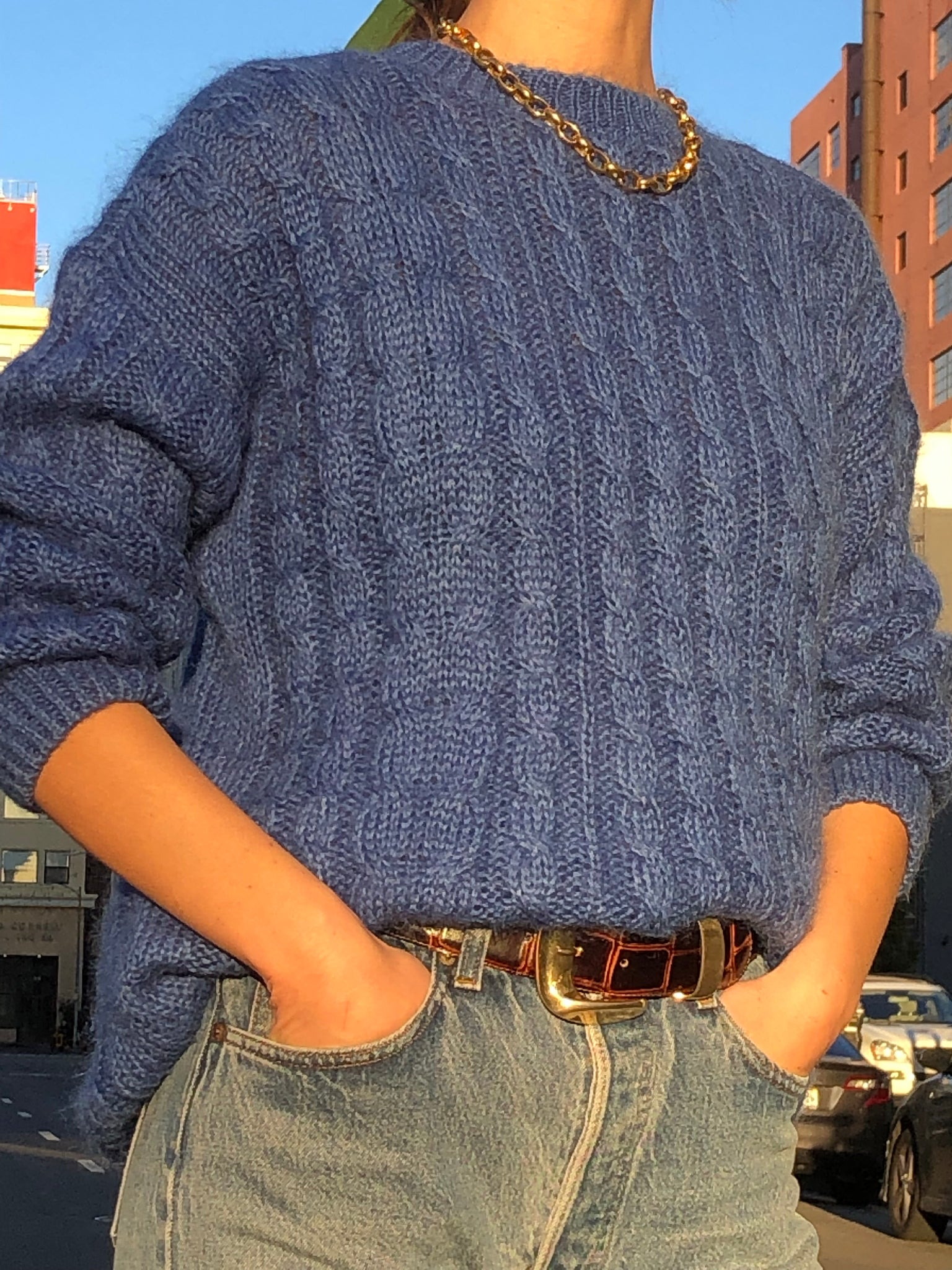 Azure Oversized Mohair - Size Small To Large