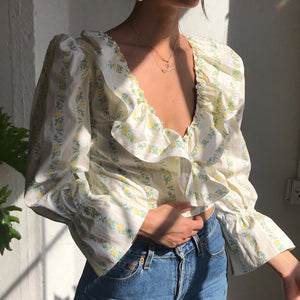 Poet Blouse in Golden Rose