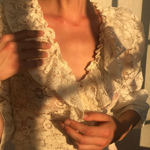 Poet Blouse in Antique Lace