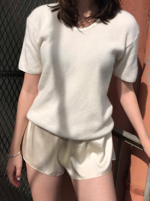Vintage French Angora Knit Tee - Size Small to Medium