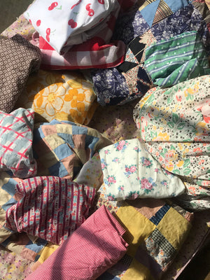 Mixed Bag Vintage Fabric Covid Masks 3 for $42 SOLD OUT - Preorder Available (4 weeks hand-sewn just for you! )