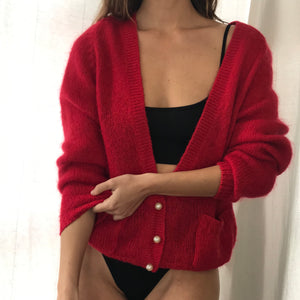 Cherry Mohair Knit - Size Sm/Md