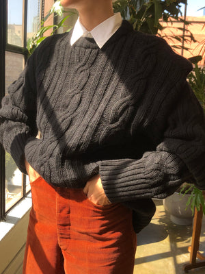 Chunky Oversized Wool Knit - Size Medium to Extra Large