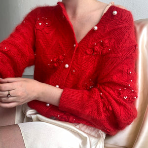 Rose Pearl Angora Knit - Size Small to Medium