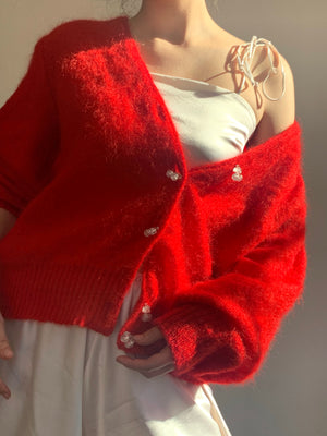 Vintage Cherry Button Knit 🍒- Size Small to Medium