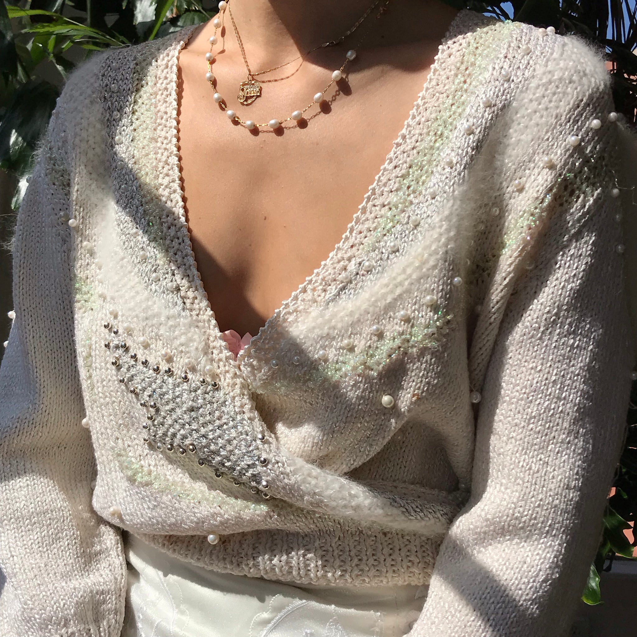 Glitter Angora Blend Knit Size Small/Medium
