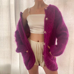 Incredible Daisy Chain Mohair Cardigan - Size Small to Large
