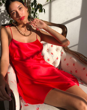 ❤️ Holly Silk Dress in Scarlet ❤️ *matching satin mask optional*