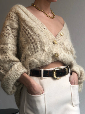 Essential Oversized Mohair Cardigan - Size Small To Large