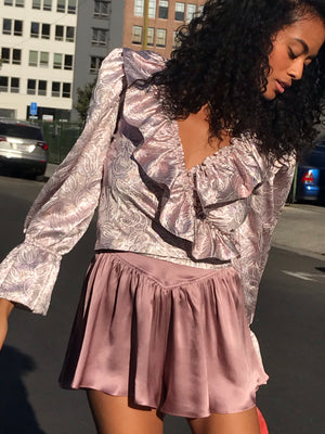 Poet Blouse In Baroque Hologram *one size small left*