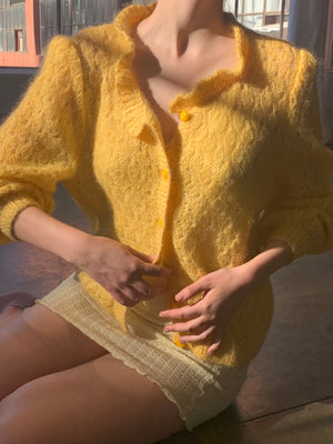 Vintage Golden Mohair Knit - Size Small to Medium