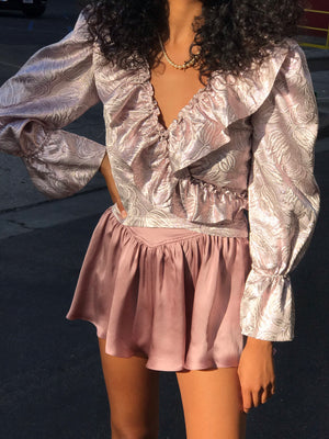 Poet Blouse In Baroque Hologram ONLY A FEW LEFT! $92 FINAL SALE