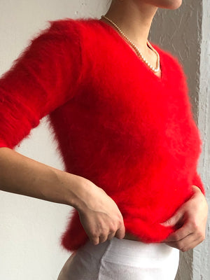 Fuzzy Cherry Knit