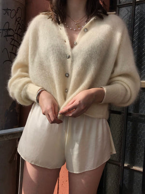 The Perfect Essential Angora and Mohair Knit- Size Small to Medium
