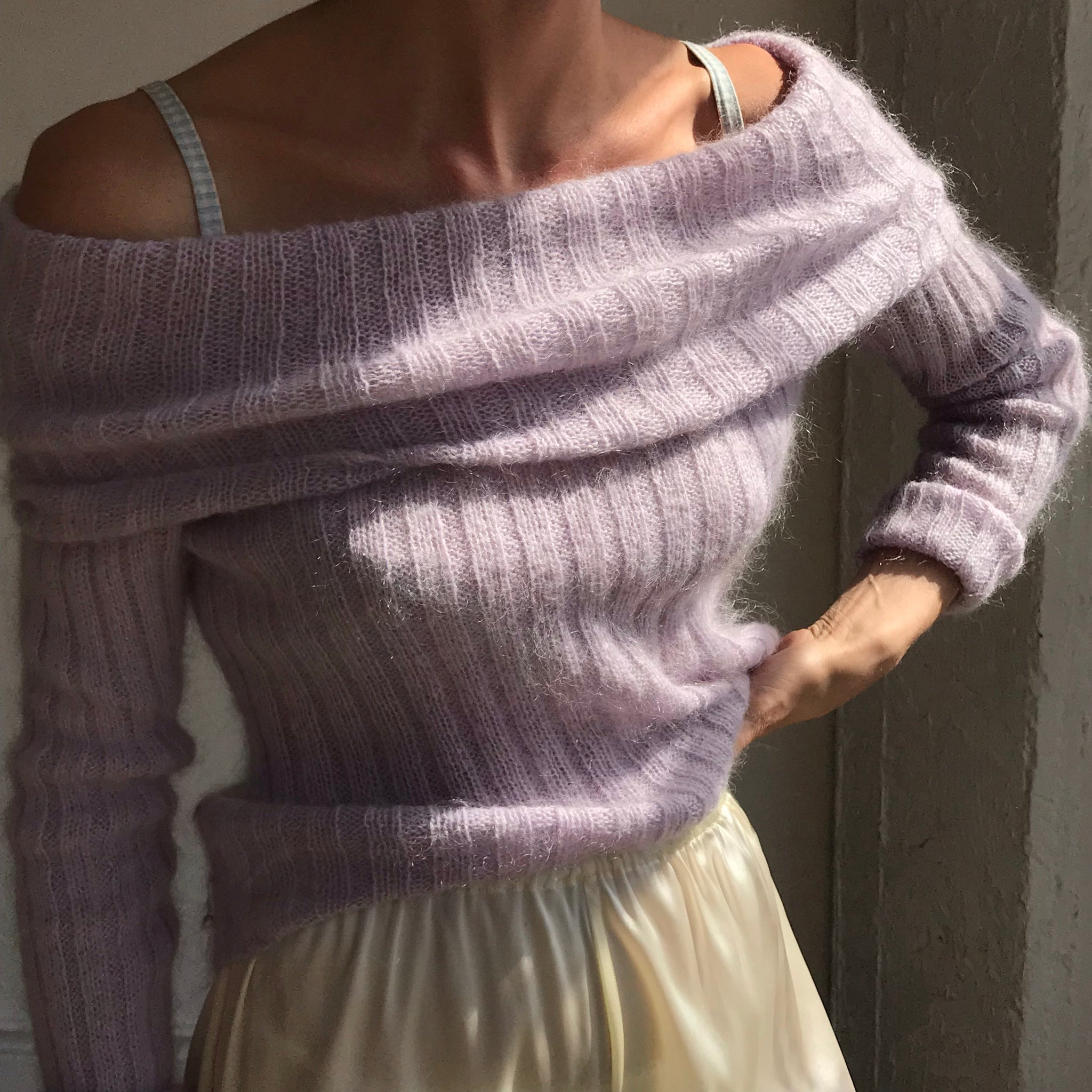 Lilac Vintage Mohair Knit 🧶Size Small